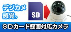 SDカード録画対応 防犯カメラ